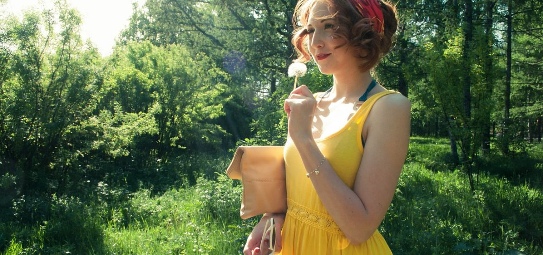 Sárga nyári ruhák