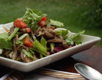 Sült Marhaszeletek Salátával Recept